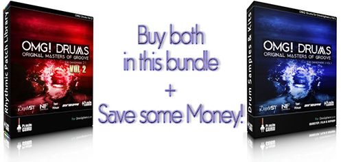 OMG Drums V1/V2 Bundle: Buy both libraries at once & save some money!