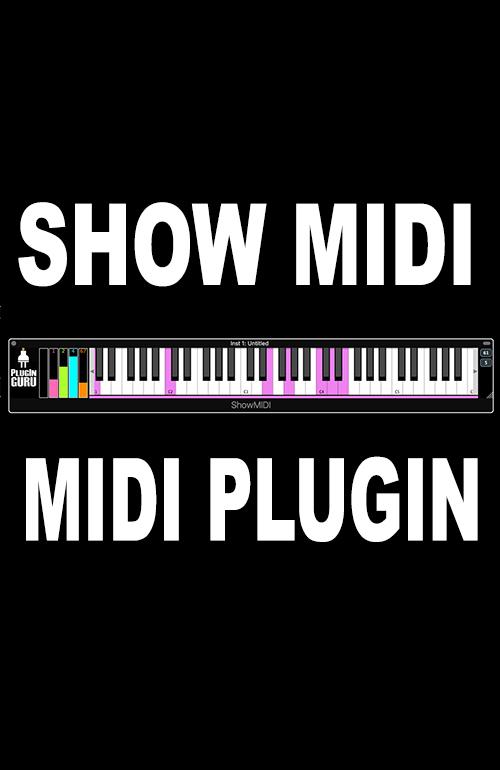 PlugInGuru Show MIDI - MIDI Effect - PluginGuru com