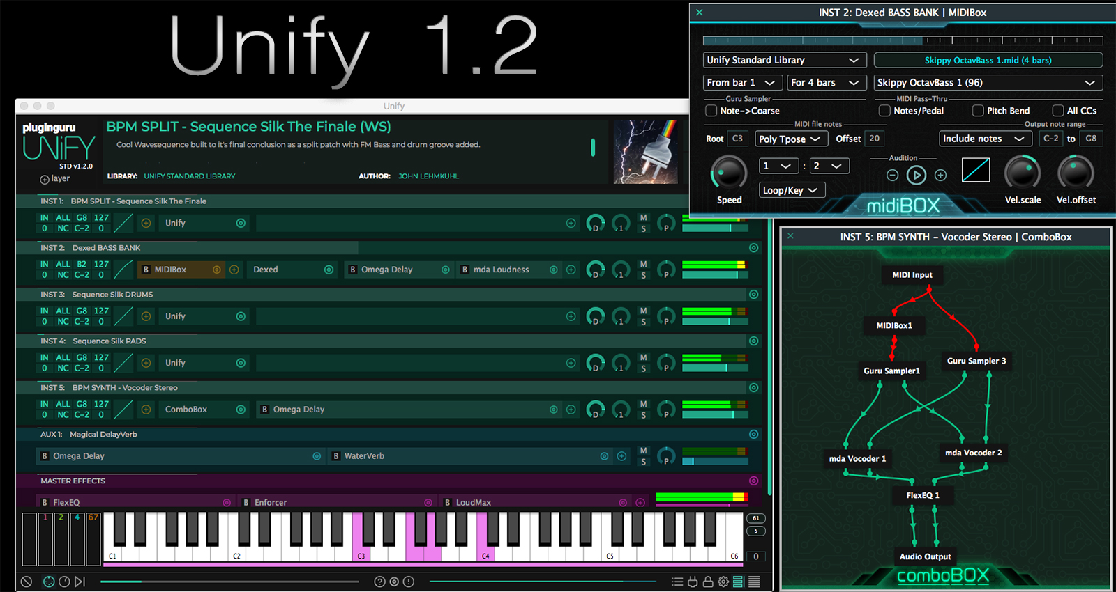 Unify 1.2 Interface with MIDIBox and ComboBox