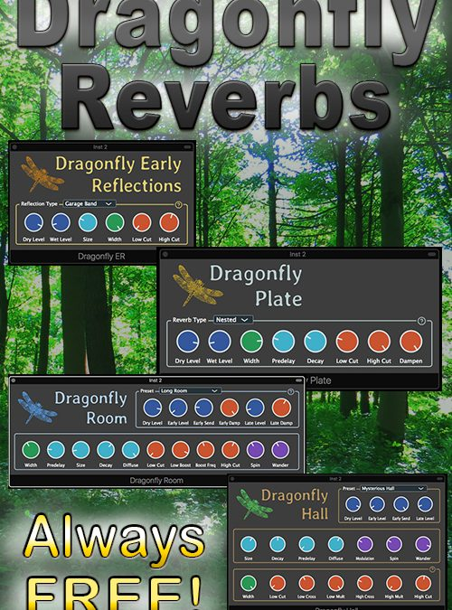 Dragonfly Reverbs (ER, Room, Hall & Plate)